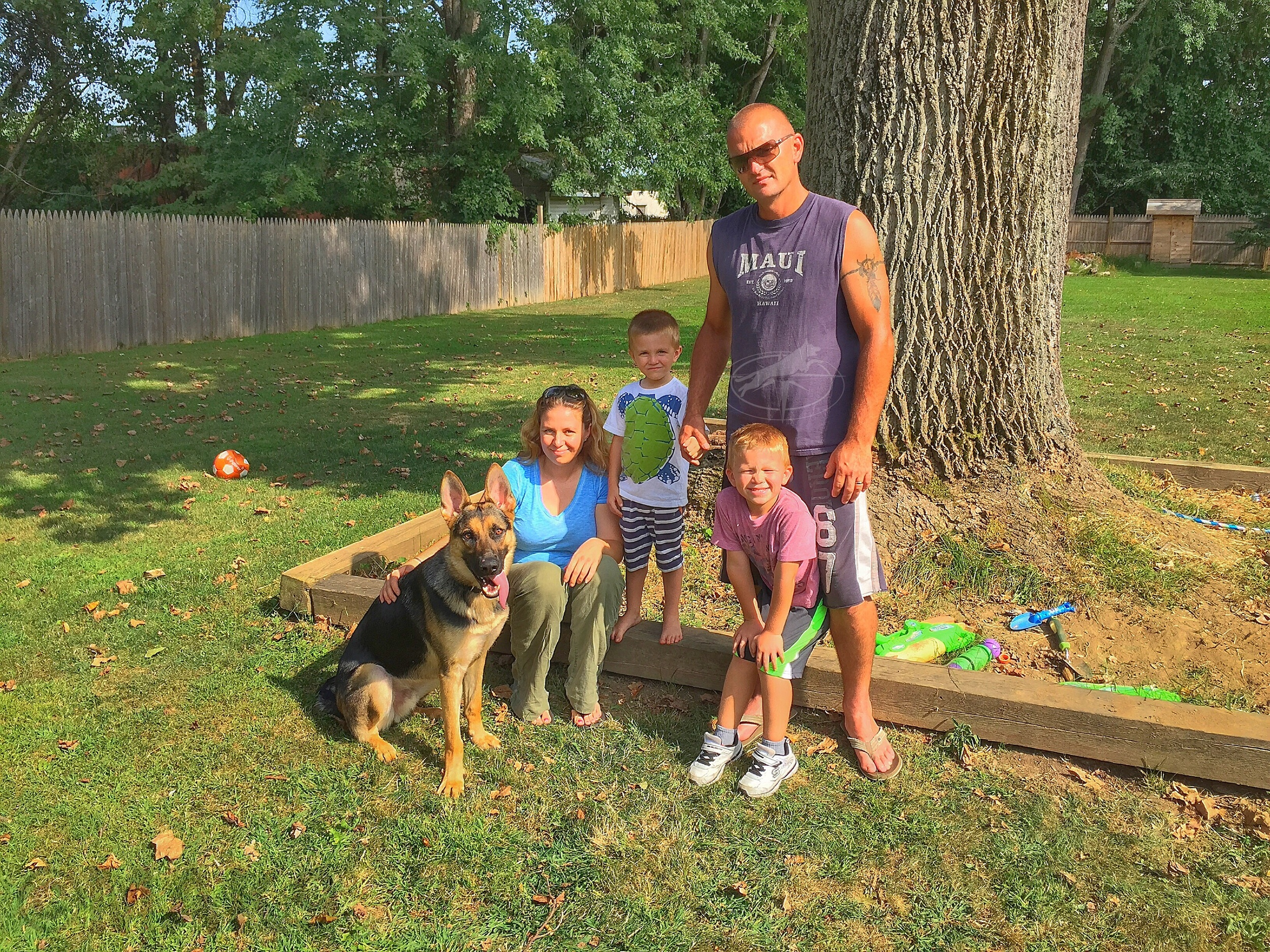 Ranger and his new family