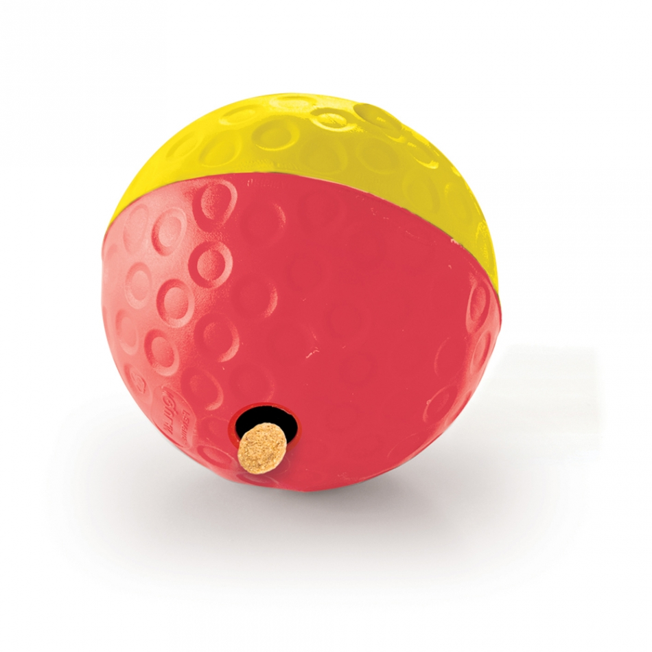 Treat TumblebyNina Ottosson - Nina Ottosson's Treat Tumble is a rolling, bouncing, treat filled ball your pup will love! Fill the ball with treats or kibble through one of the two holes and watch your furry friend bat, push, and roll the ball for tasty rewards.