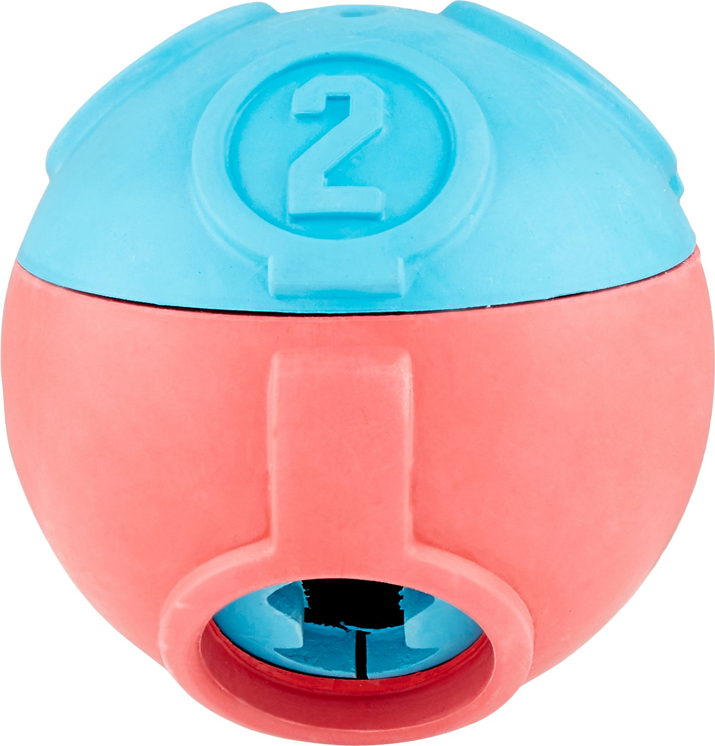 Pet Stages Challenge Ball - Made with 100% natural rubber that is great for occupying and challenging your dog. Made with 3 adjustable levels for increased difficulty. Great for chase and fetch, this ball is ideal for 2-in-1 play acting as a treat dispenser and ball all in one