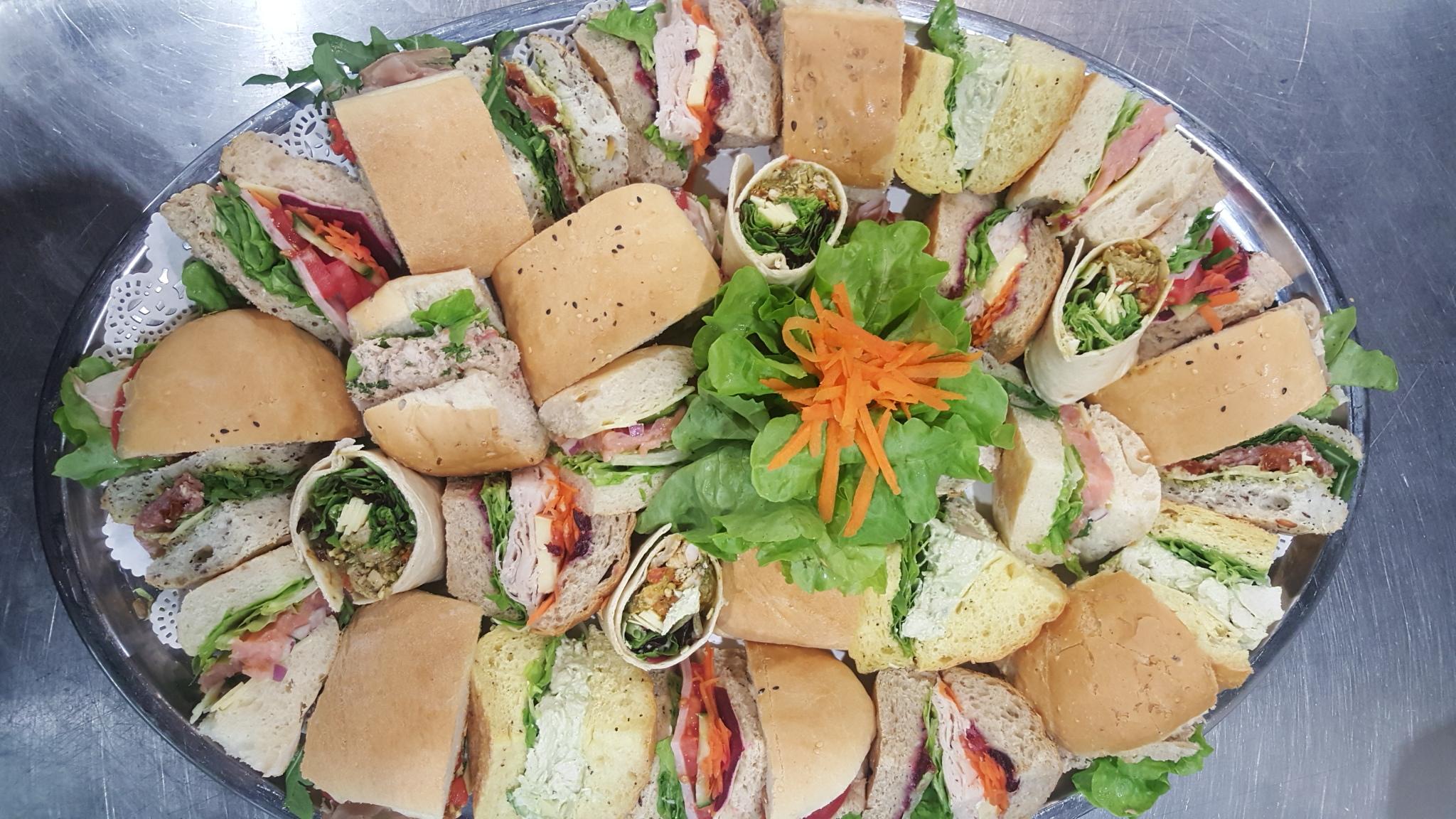 Rolls, Wraps & Sandwiches Platter
