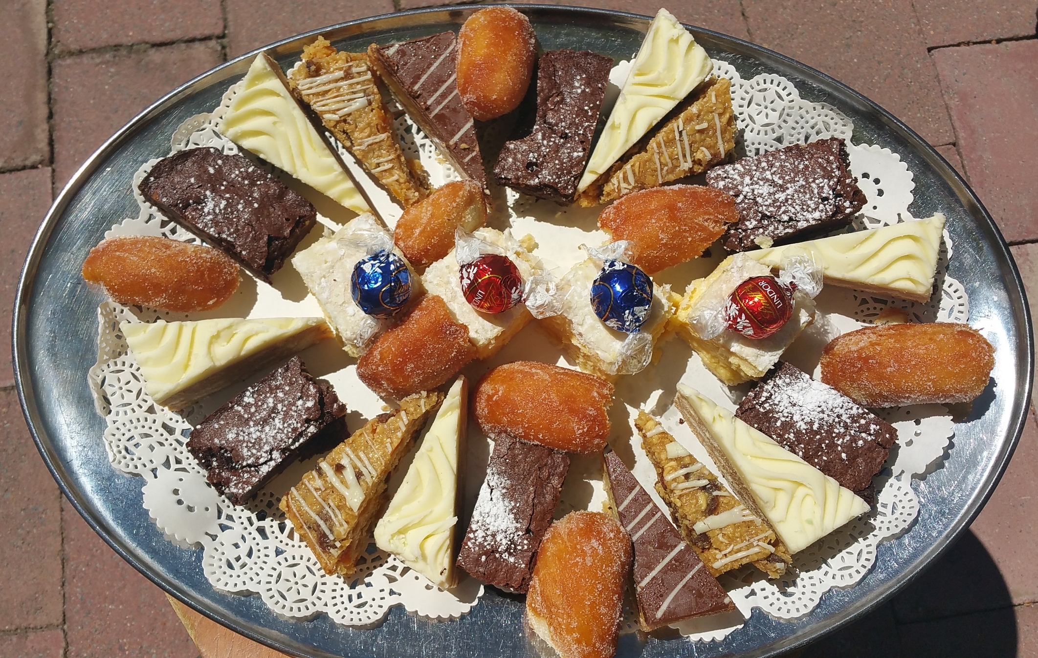 A variation of our Cakes & Slices Platter with Chocolates
