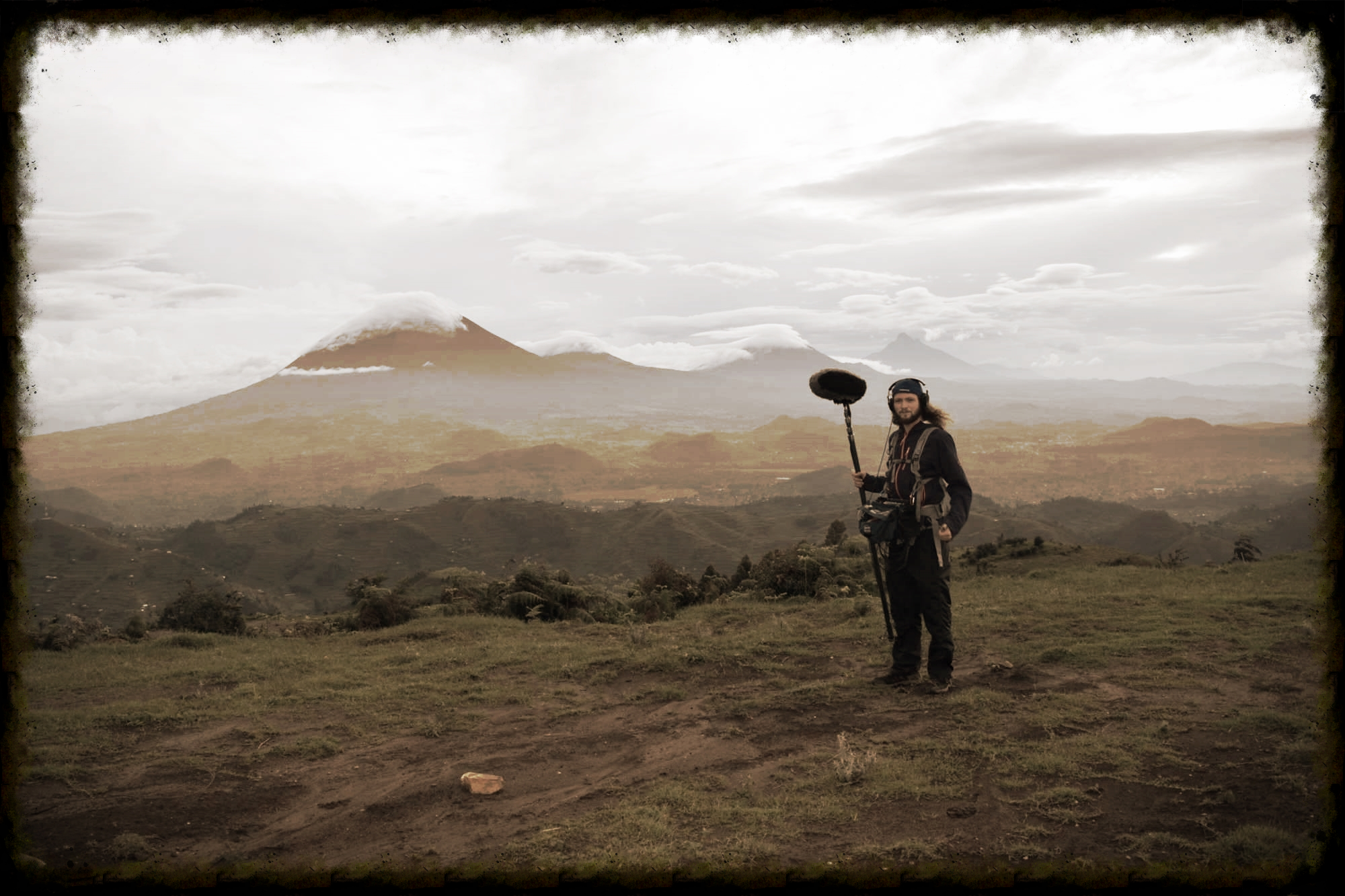 Location Sound Recording in the forests of Uganda.
