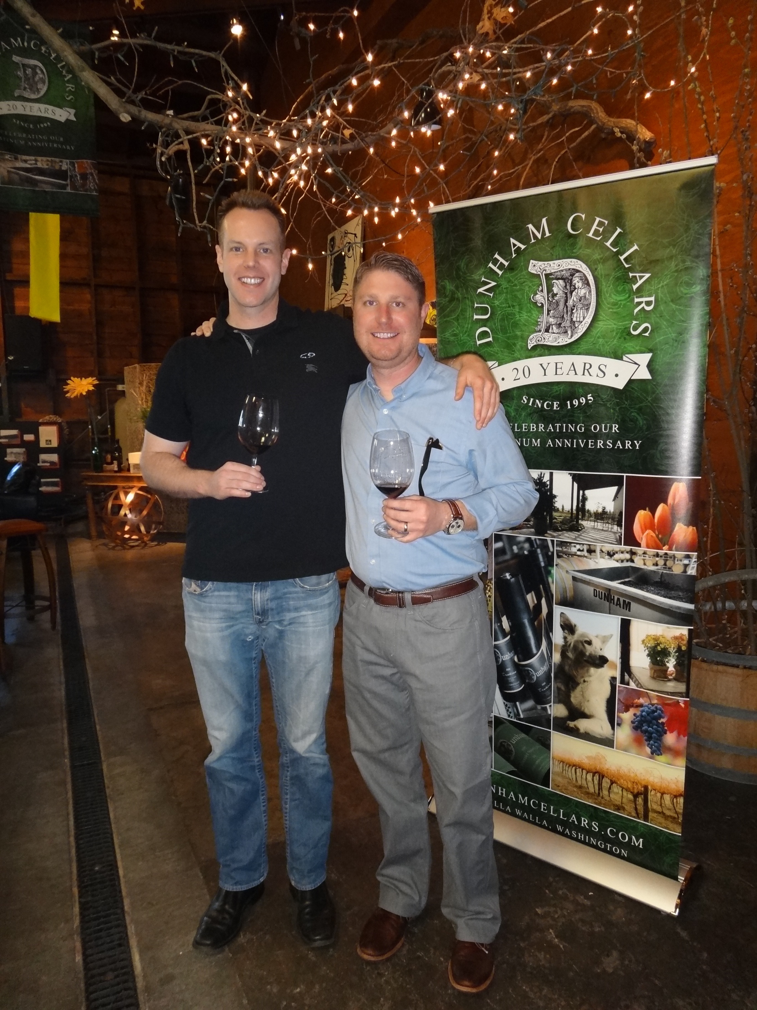 Tasting wine with Dan Wampfler