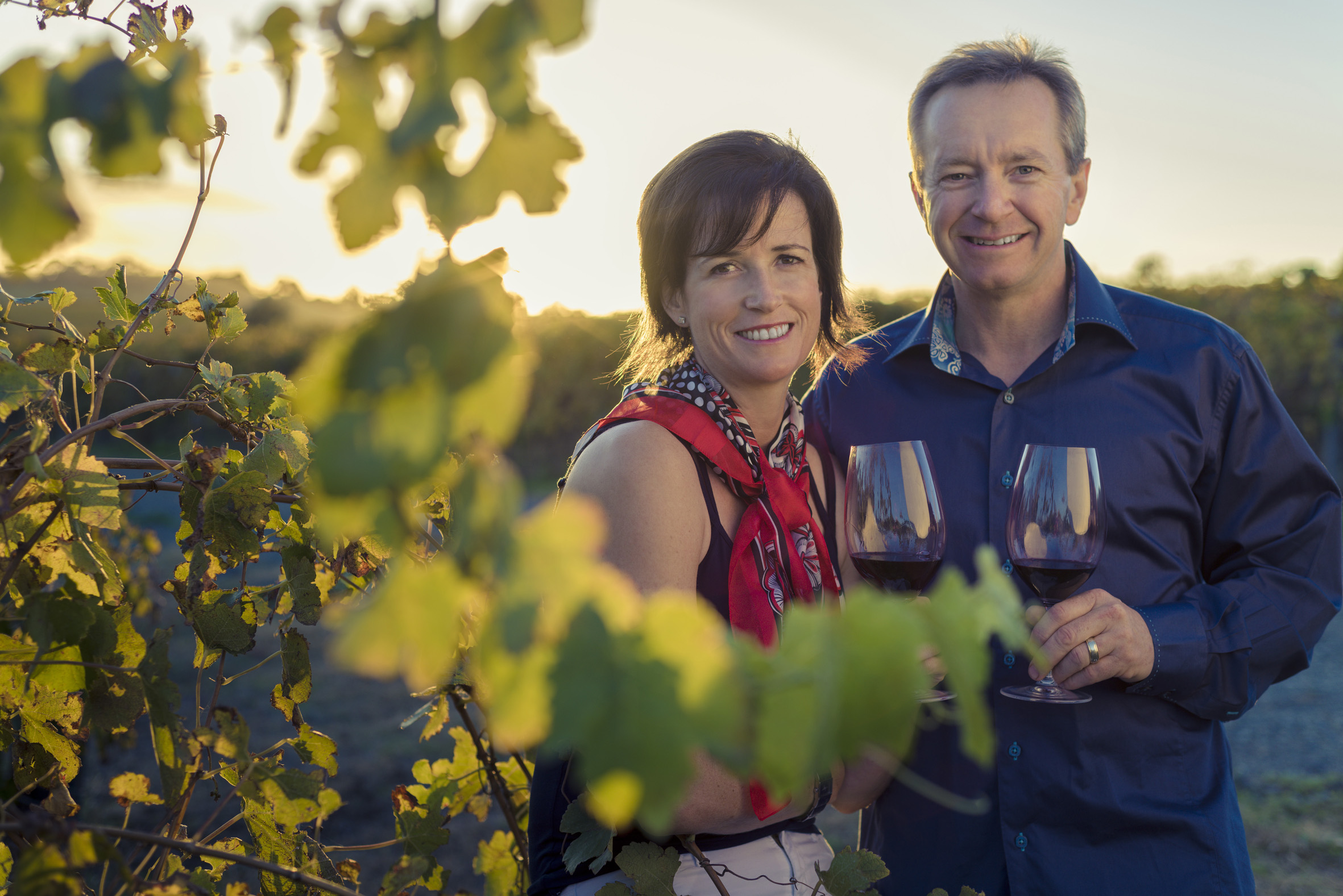 Mollydooker owners in their vineyard