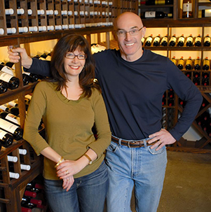 Woodward Canyon owner/winemaker, Rick Small, and his wife   Darcey Fugman -Small