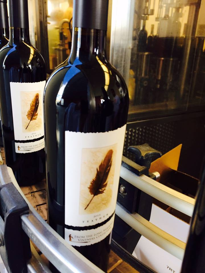 Bottling the 2012 Feather, rated 94 points