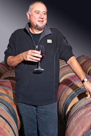 Marty in his barrel room in Woodinville