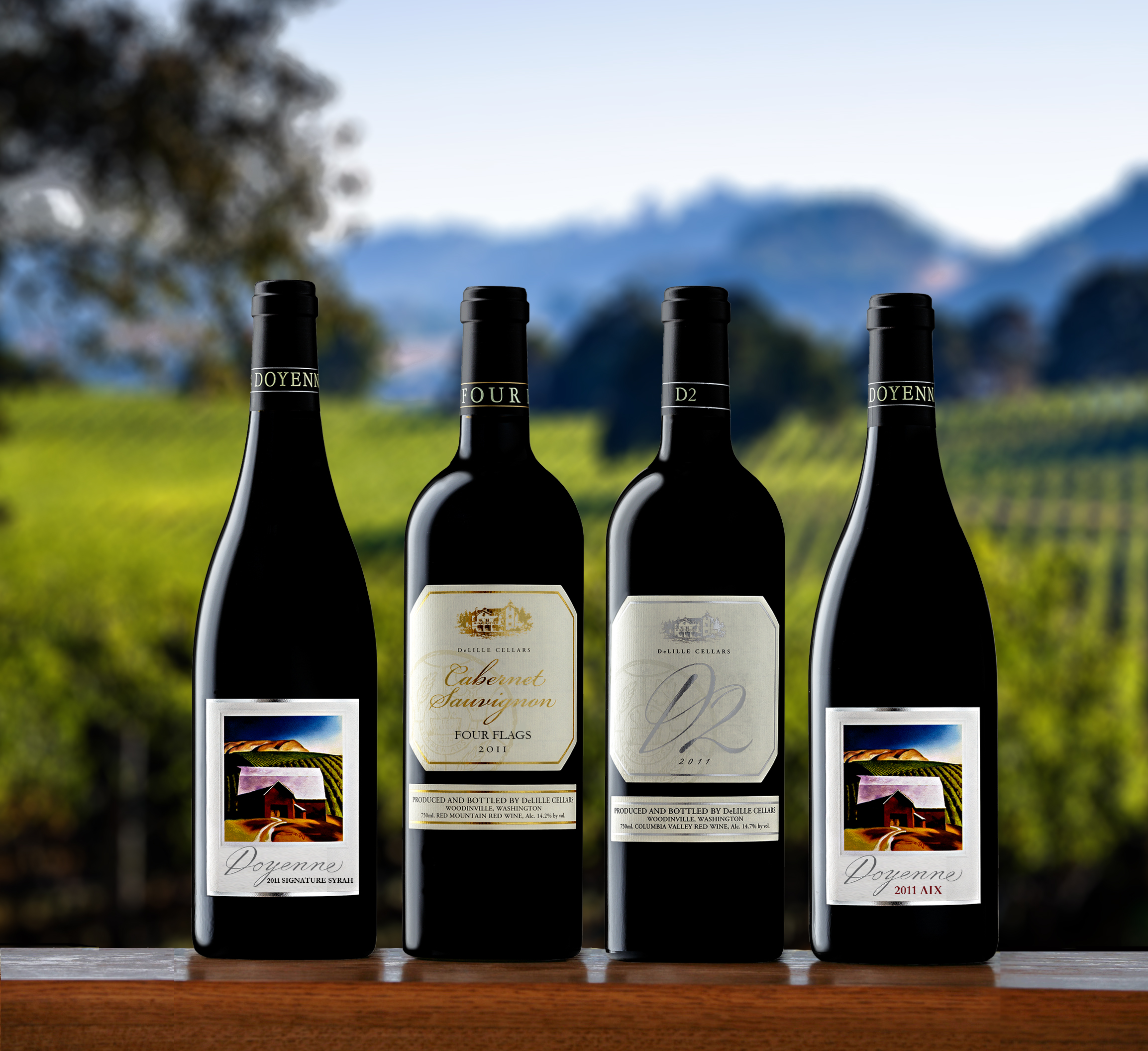 Impressive lineup of DeLille red wines