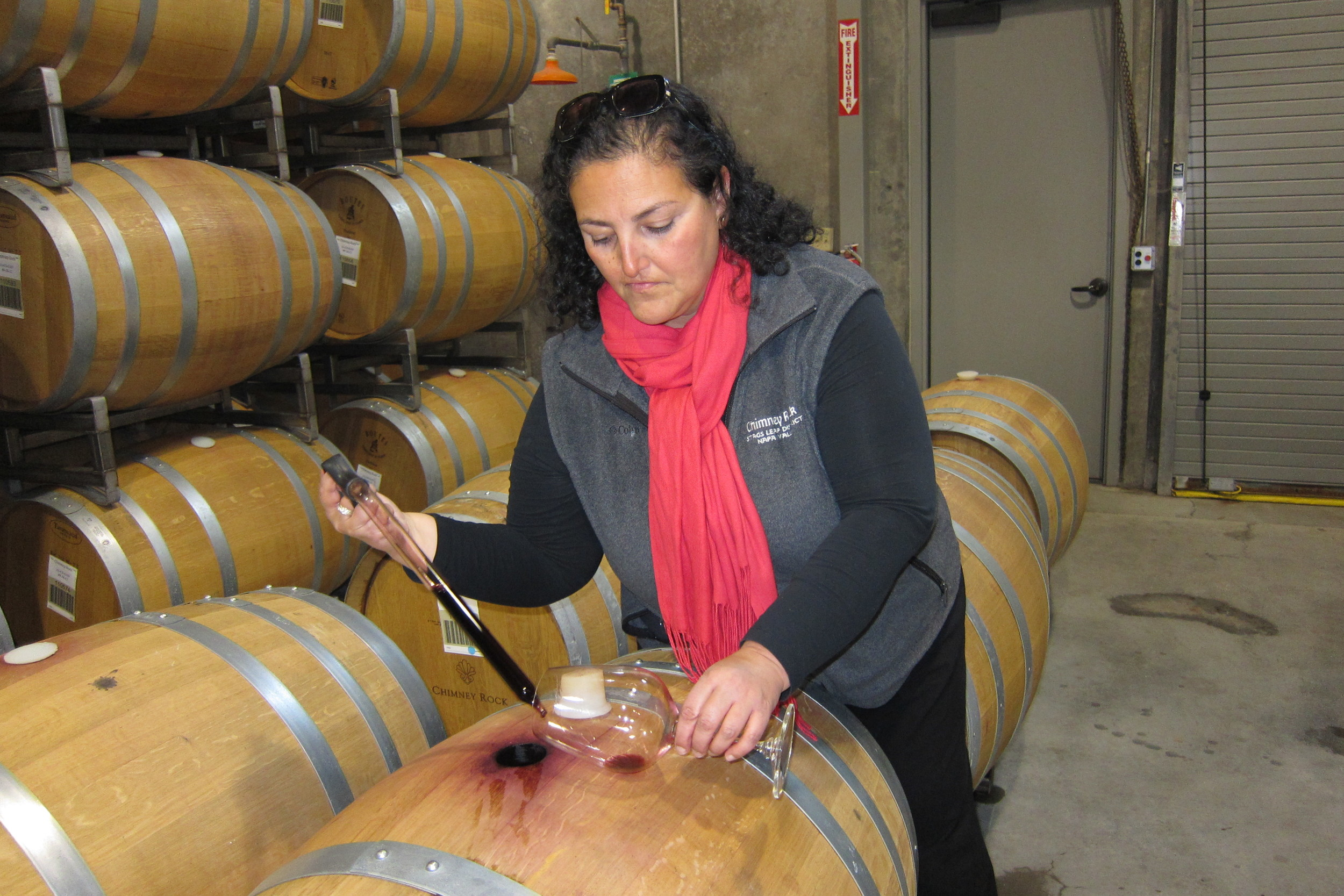 Head winemaker at Chimney Rock, Elizabeth Vianna