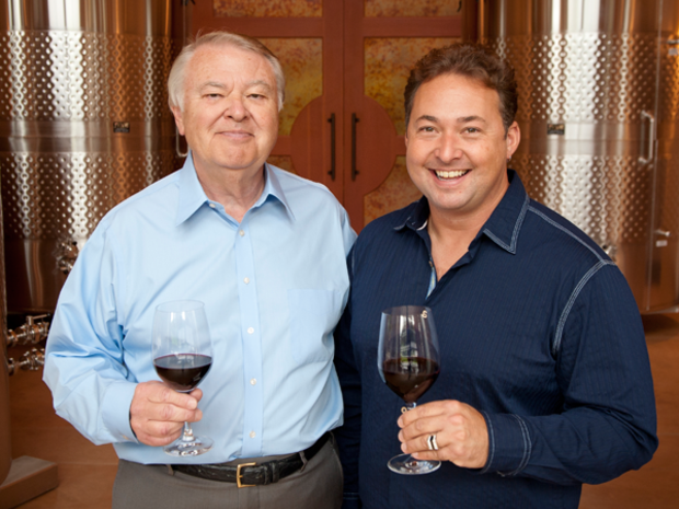 Alex Golitzin (L) with his son, head winemaker at Quilceda Creek, Paul Golitzin (R). Paul has crafted Washington Wine Blog's #1 wine of the year, the 2012 Quilceda Creek Columbia Valley Cabernet