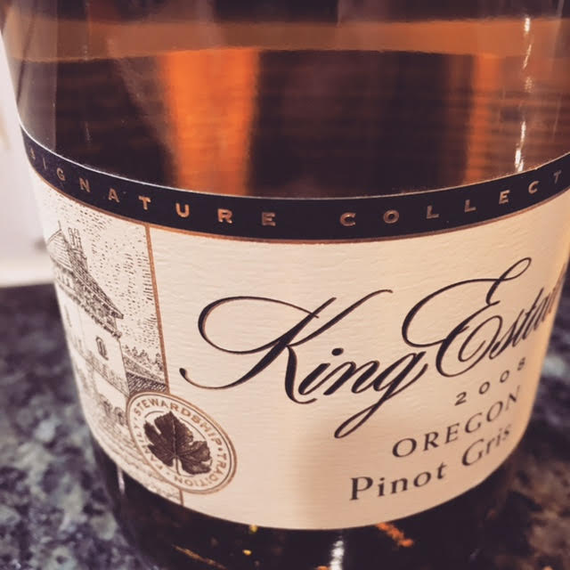 The 2008 King Estate 'Signature Collection' Pinot Gris has aged gracefully and shows the surprising aging potential of this varietal