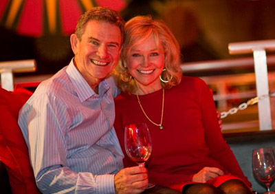 Great picture here of HALL owners Craig and Katheryn Hall, who have created a state of the art Napa winery.