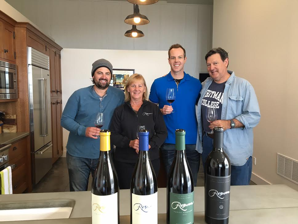 Incredible opportunity sampling great Reynvaan wines with Matt, Gale and Mike Reynvaan (pictured L to R). The new release wines were exceedingly impressive.