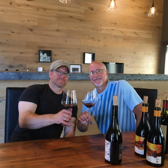 Great picture here of Force Majeure superstar winemaker Todd Alexander (L) with proprietor Paul McBride (R) at their Woodinville Tasting room.