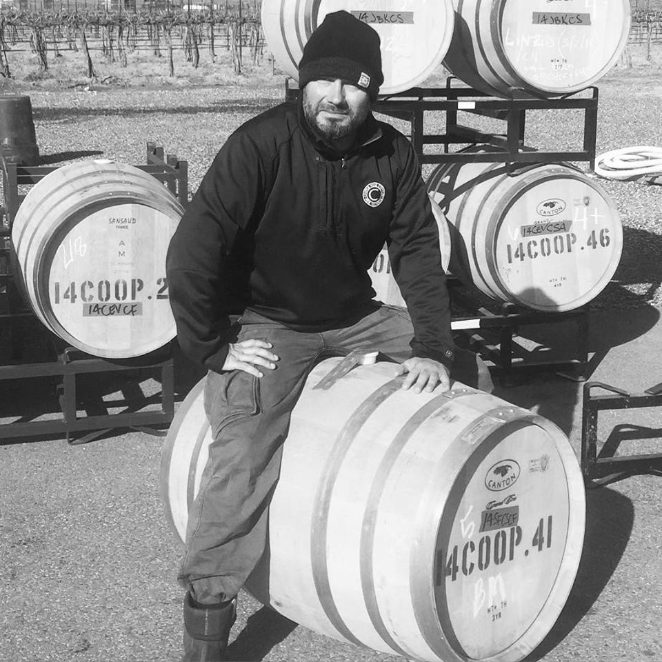 Great picture here of Cooper Wine Company head winemaker Steffan Jorgensen.