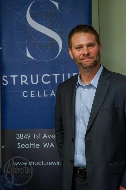 Great photo here of Structure Cellars owner and head winemaker, Brian Grasso.