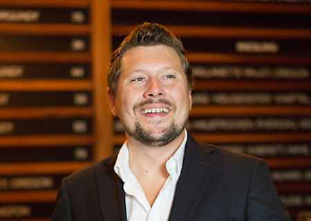 Great picture here of W.T. Vintners head winemaker and advanced sommelier, Jeff Lindsay-Thorsen.