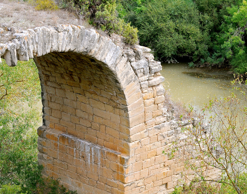 The Viña Lanciano Vineyard actually has a Roman bridge in the middle. Just incredible history with this property.
