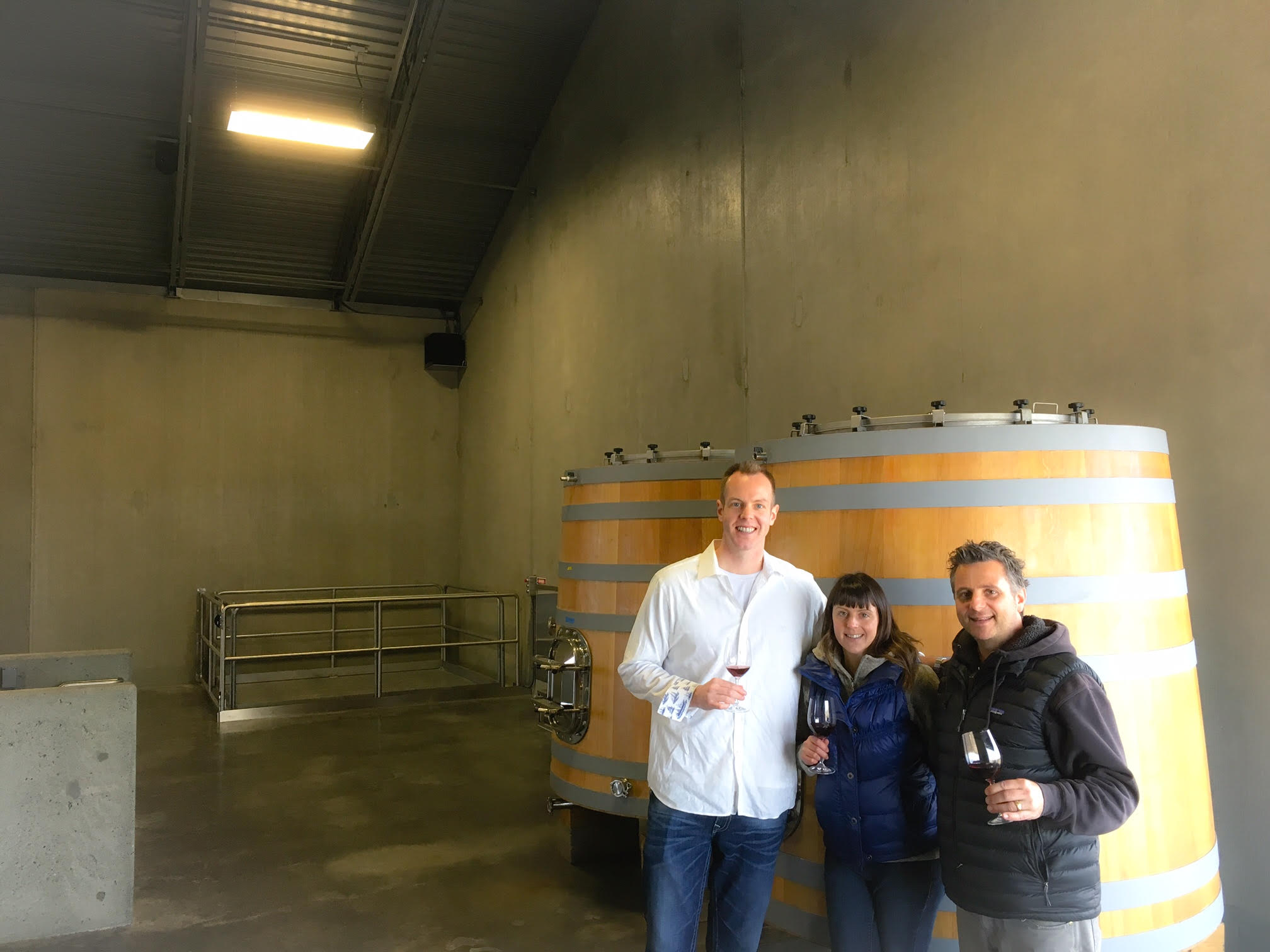 It was a great honor to taste wines with eminent Vigneron. Christophe Baron and assistant Vigneronne, Elizabeth Bourcier, at Cayuse.