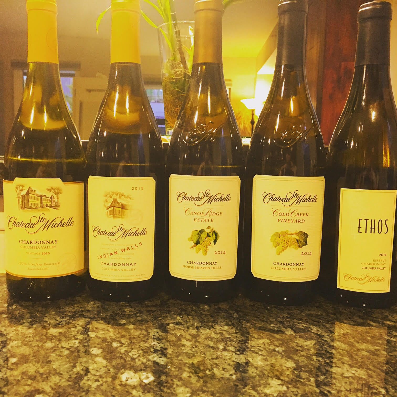 The gorgeous new release Chardonnay wines by Chateau St. Michelle.