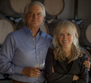 Great shot here of Steve and Carol Girard, founders of Benton Lane Winery
