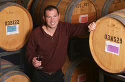 Great picture here of superstar winemaker, Giles Nicault, who crafts the 2013 Den Hoed 'Andreas' Cabernet.