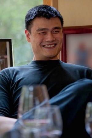 Great shot here of NBA legend Yao Ming of Yao Family Wines
