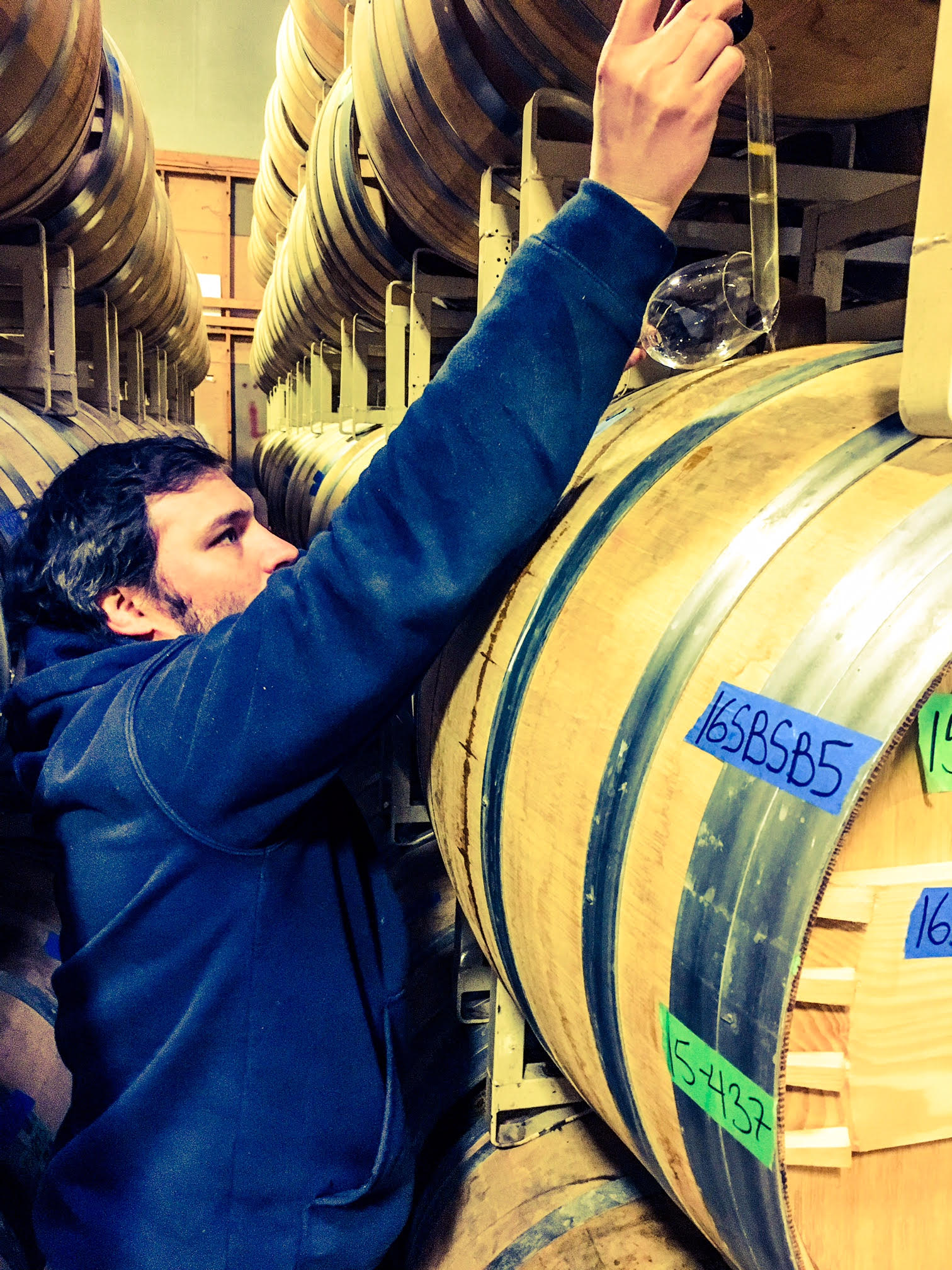 I had a great time checking out barrel samples with superstar winemaker, Jason Gorski, of DeLille Cellars