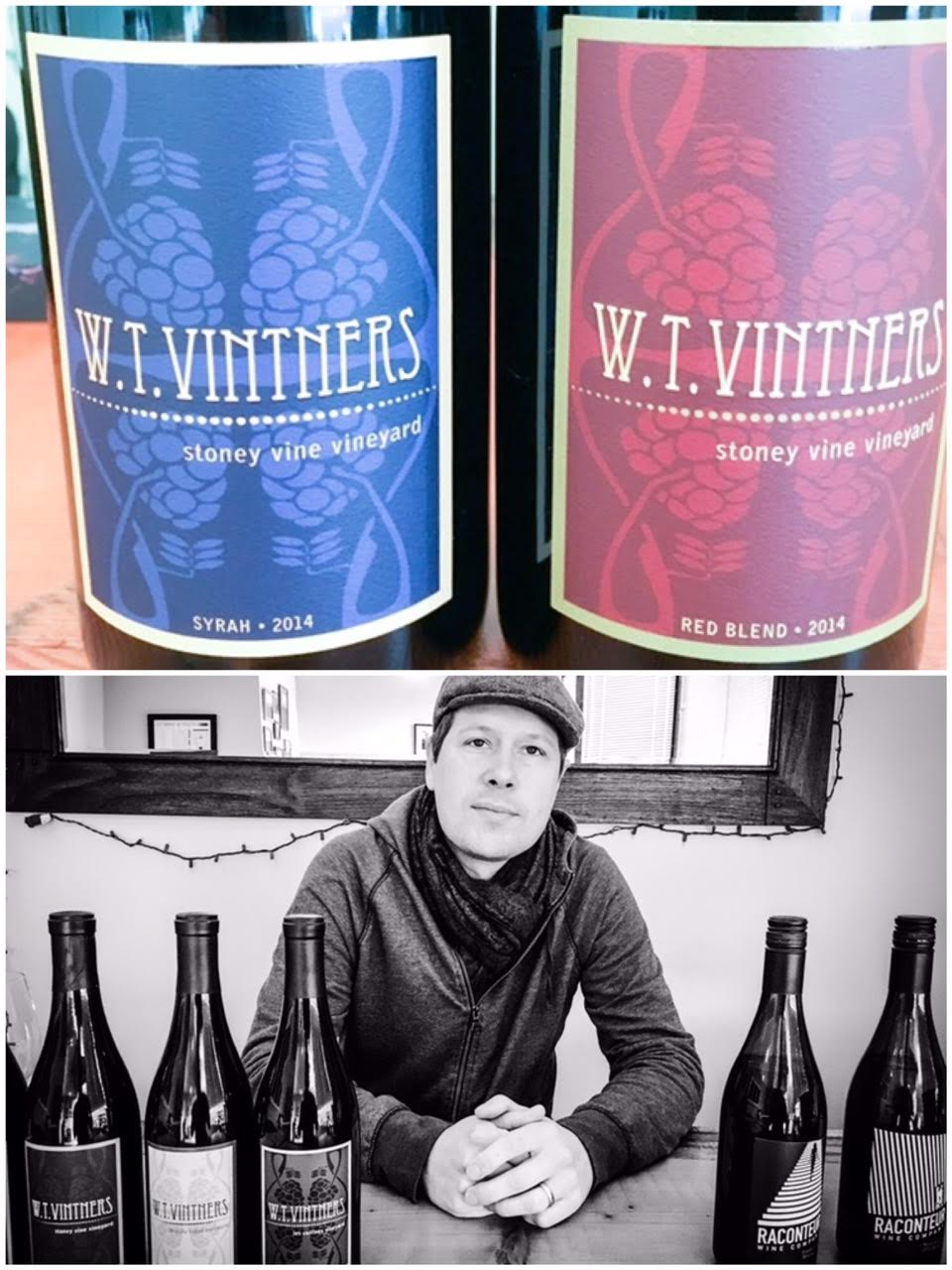 Killer photo here of superstar winemaker Jeff Lindsay-Thorsen of W.T. Vintners and Raconteur Wine Co.