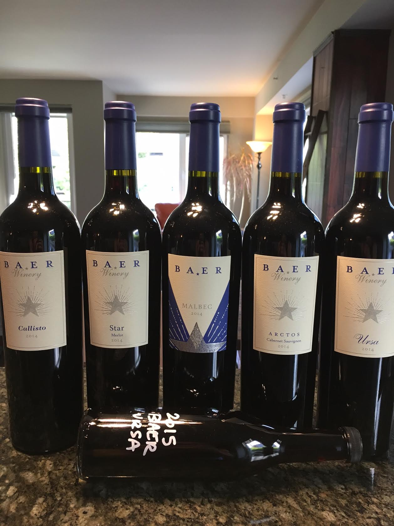 Stunning lineup of Baer red wines.