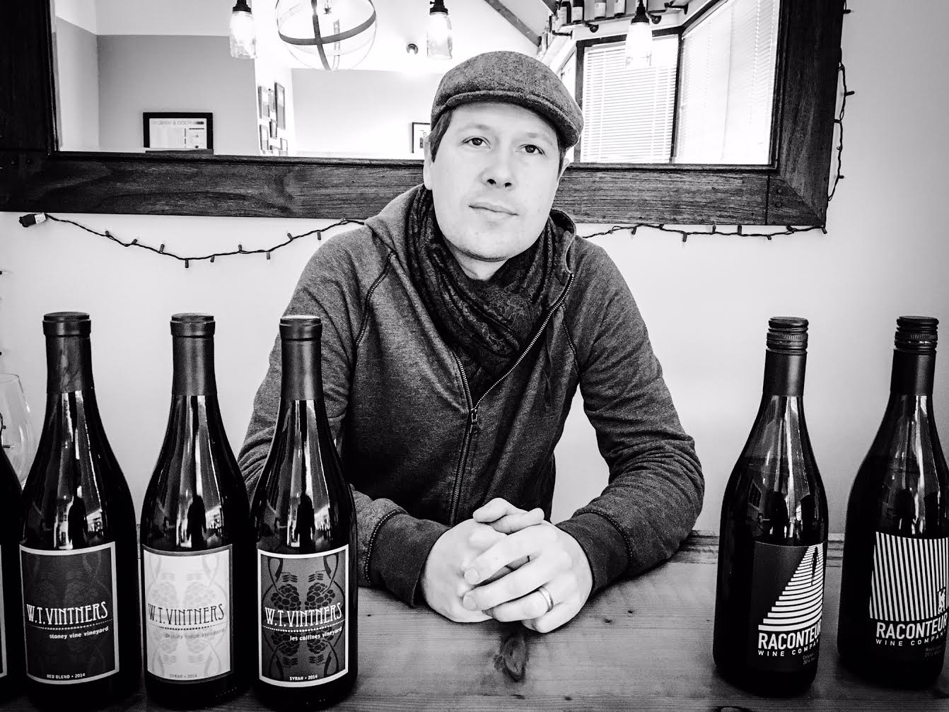 Great shot here of Jeff Lindsay-Thorsen and his fantastic new release wines