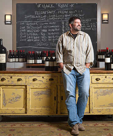 Good shot here of Mark Ryan McNeilly in his Woodinville tasting room.