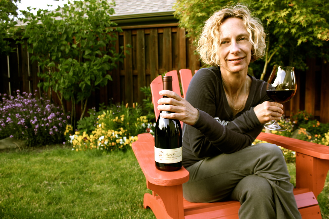Great photo here of the highly talented winemaker of De Ponte Cellars, Isabelle Dutarte.