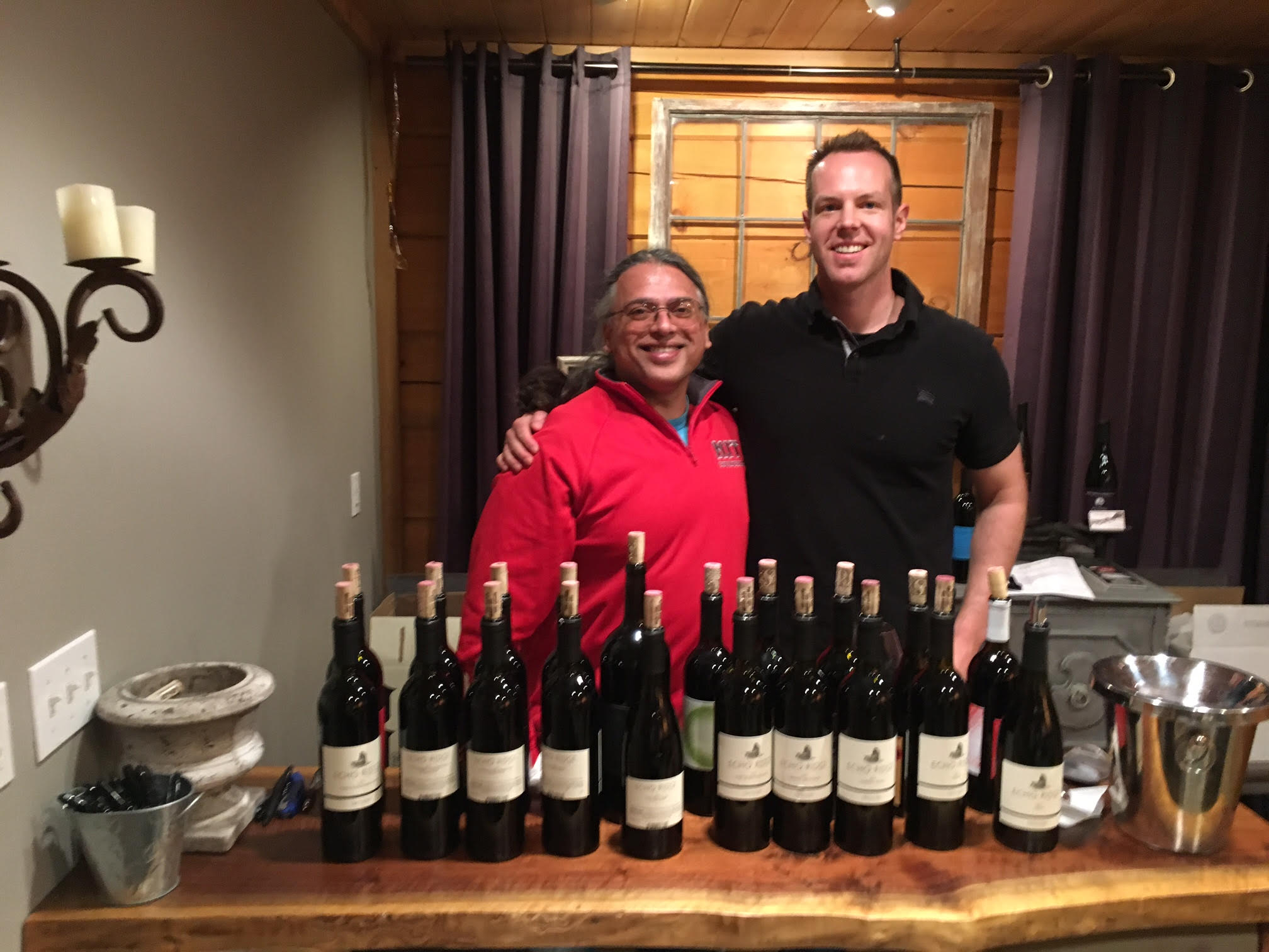 A few weeks back I had the opportunity to taste all the great Rasa Vineyards releases with superstar winemaker Billo Naravane (L)