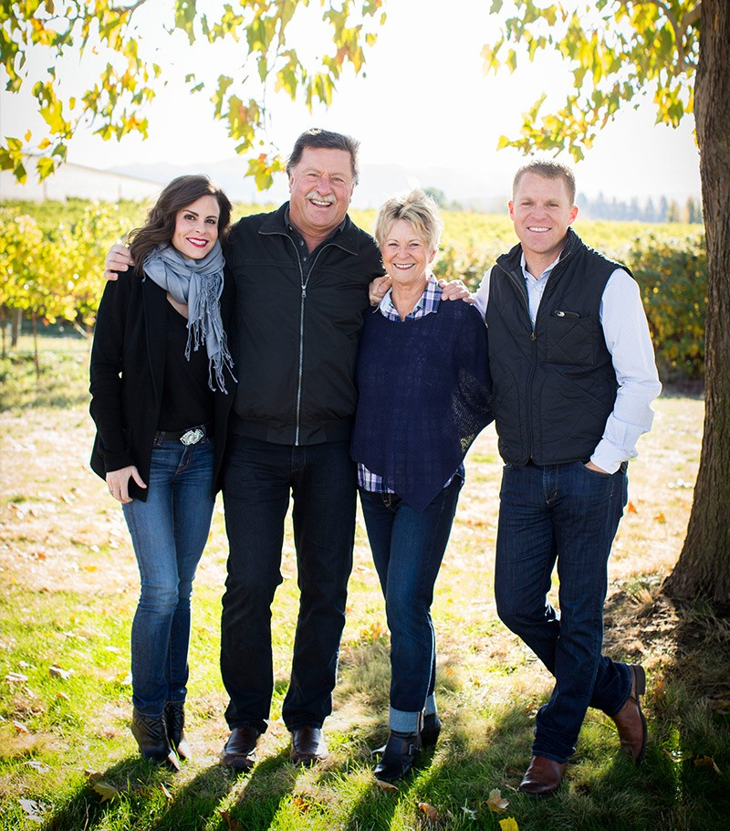 Spectacular picture here of the Figgins family, founders of Leonetti Cellar, including superstar winemaker Chris Figgins (Far R).