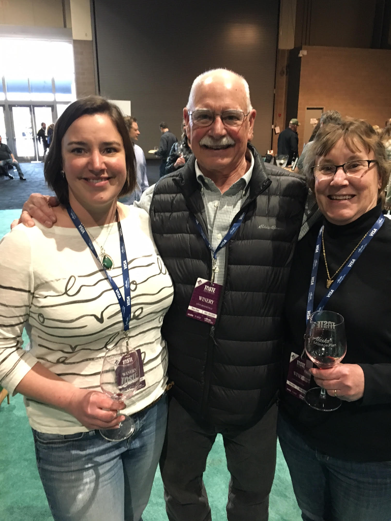 Great photo here of Kerry, Dr. Hugh and Kathy Shiels (L to R) as I had the chance to hang out with them at Taste of Washington earlier this year.