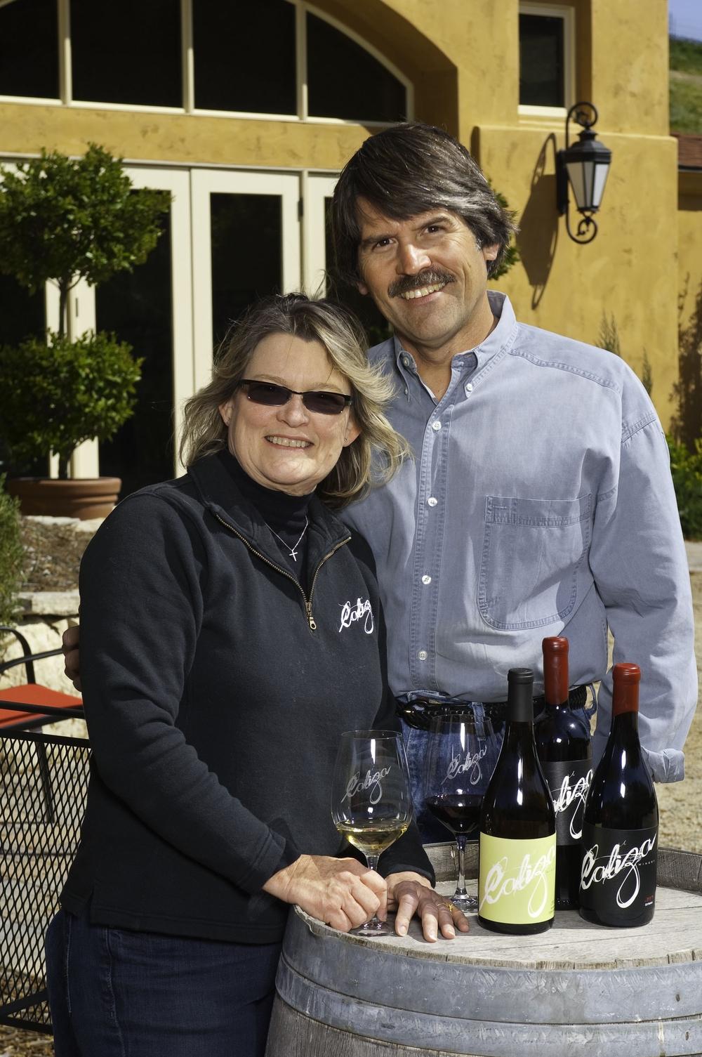 Great photo here of Caliza proprietors, Pam and Carl Bowker
