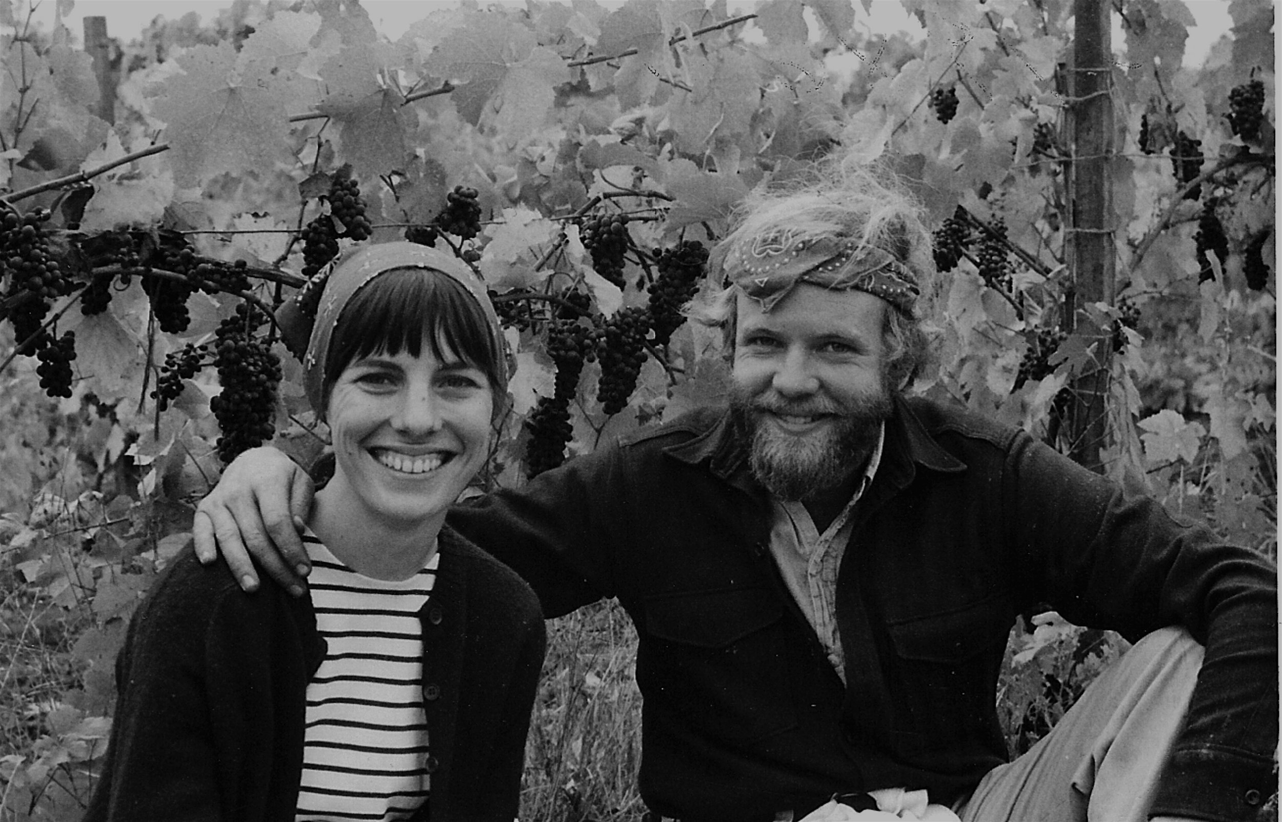 Epic picture here of The Eyrie Vineyards founders, David and Diana Lett.