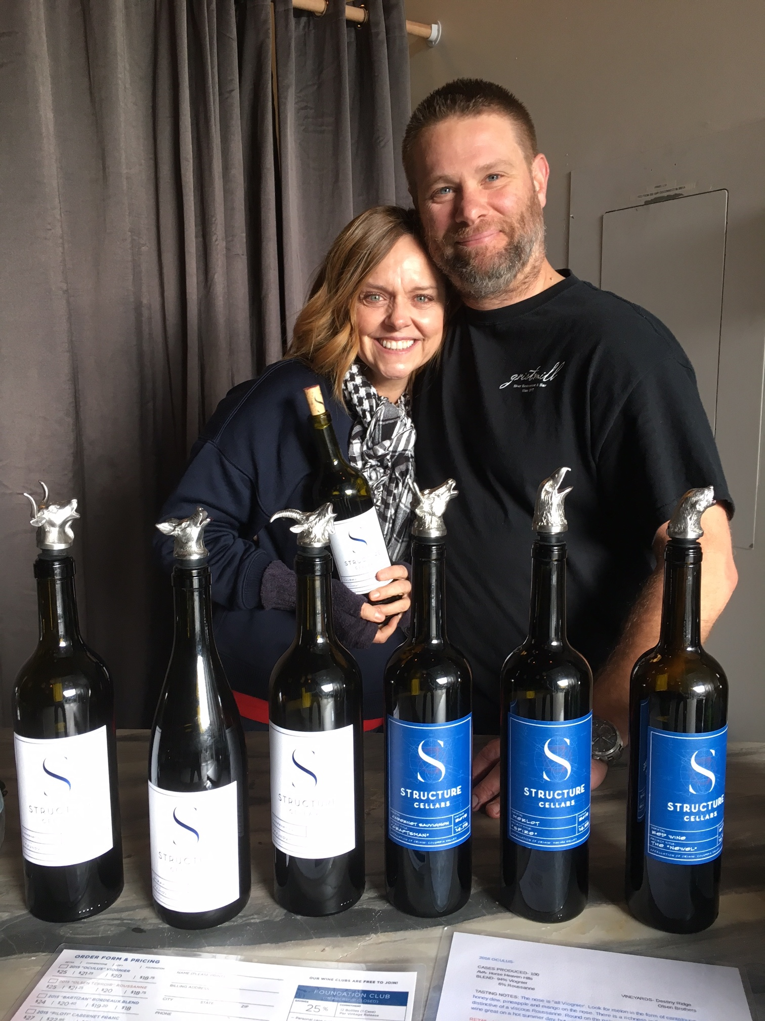 Killer photo here of great folks in the wine industry, Brian and Brandee Grasso of Structure Cellars.