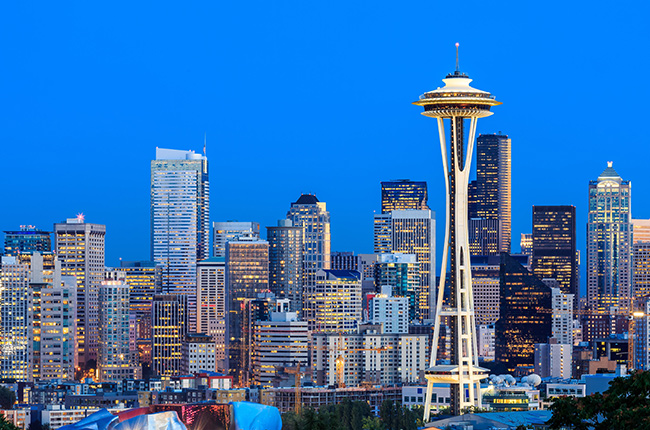 This gorgeous photo of Seattle for my Decanter Magazine article was shot by Alamy Stock.