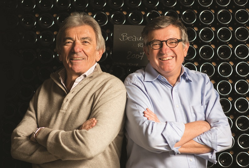 The Perrin brothers, Jean-Pierre and Francois, of Chateau de Beaucastel fame, are co-founders of Tablas Creek with Robert Haas (photo by Decanter Magazine).