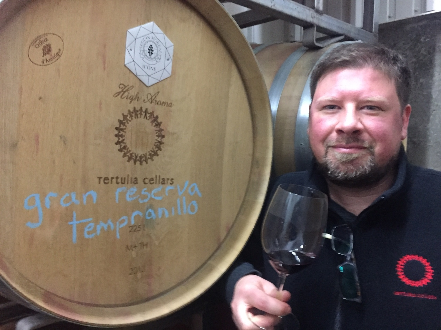 Ryan Raber serves as winemaker for Tertulia Cellars.