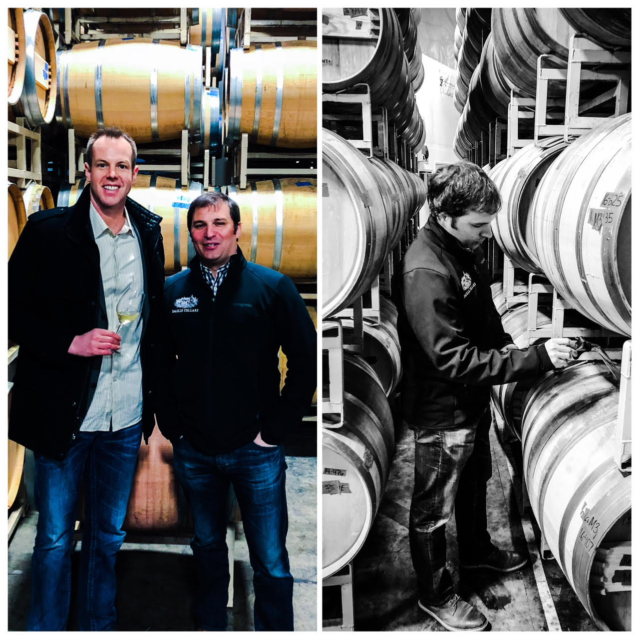 It was a great day of barrel tasting with superstar winemaker, Jason Gorski, of DeLille Cellars.