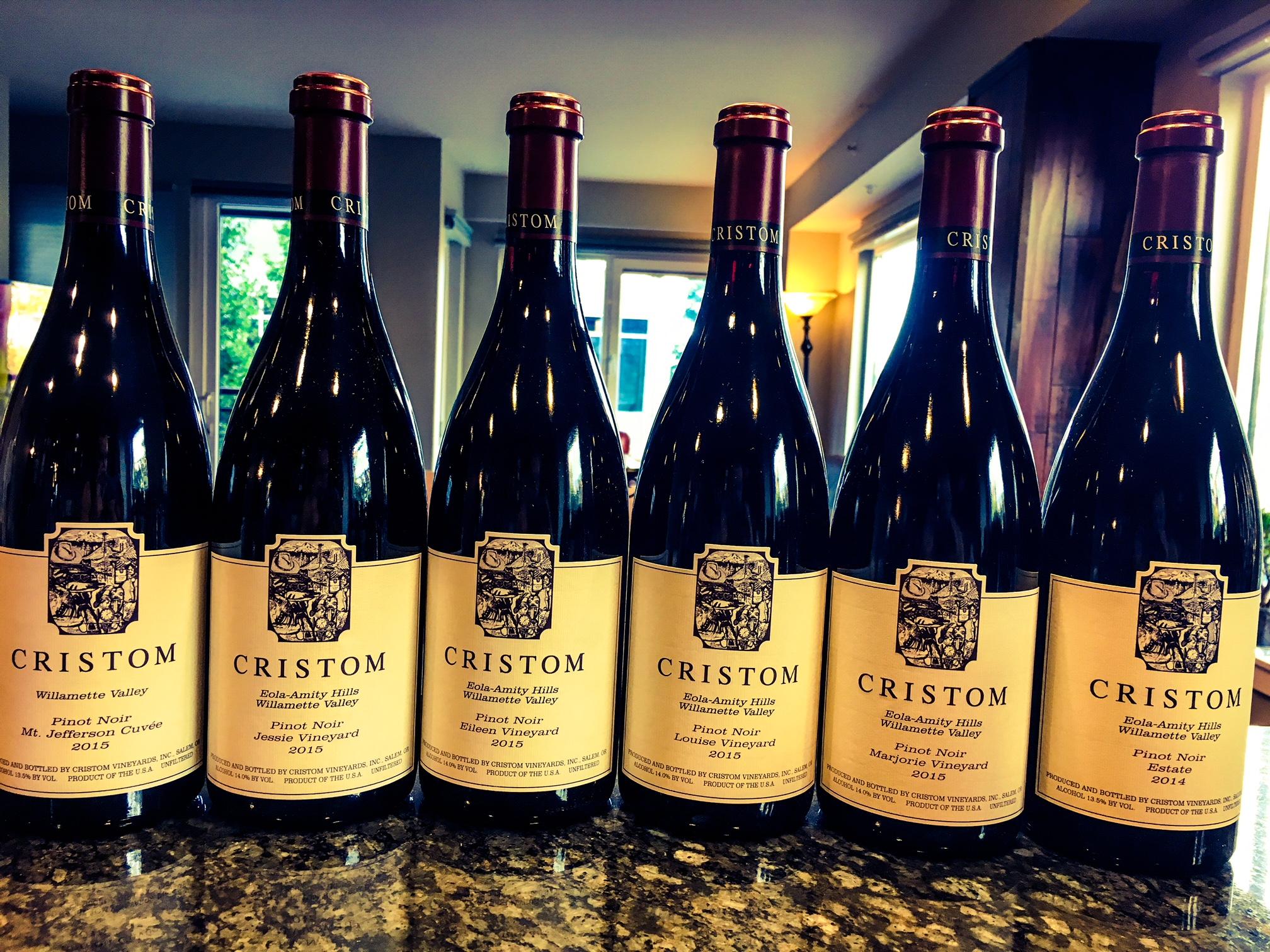 Cristom Vineyards 2015 Pinot Noirs.jpeg