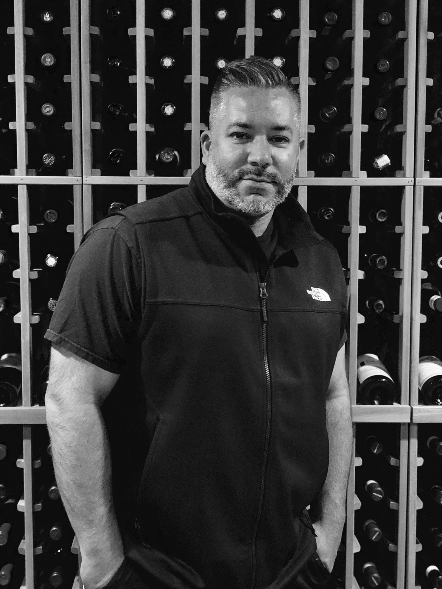 Great photo here of Joe D'Angelo in his cellar.