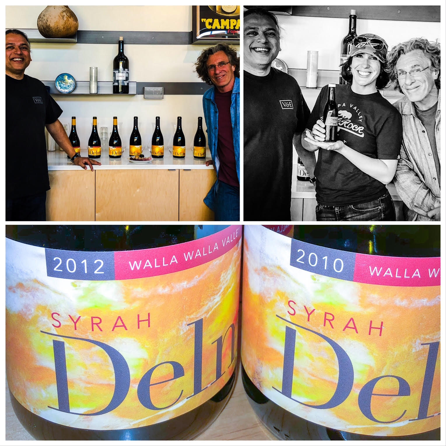 It was a wonderful day trying a complete vertical of the premier Washington wines, the Delmas Syrah.