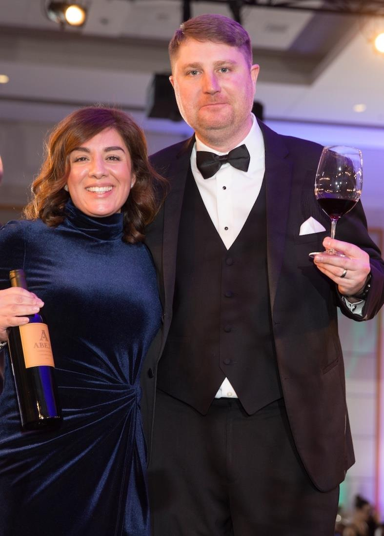 Great photo here of the uber-talented winemaking team of Dan and Amy Wampfler.