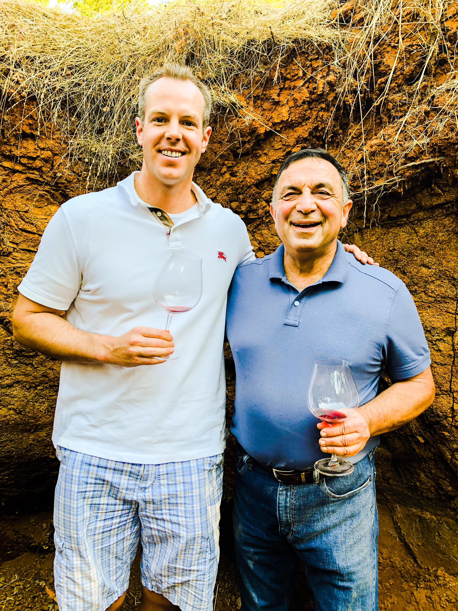Here I am pictured with Mo Momtazi, pictured in his Momtazi vineyard, as he is one of the pioneers in Oregon Pinot Noir.