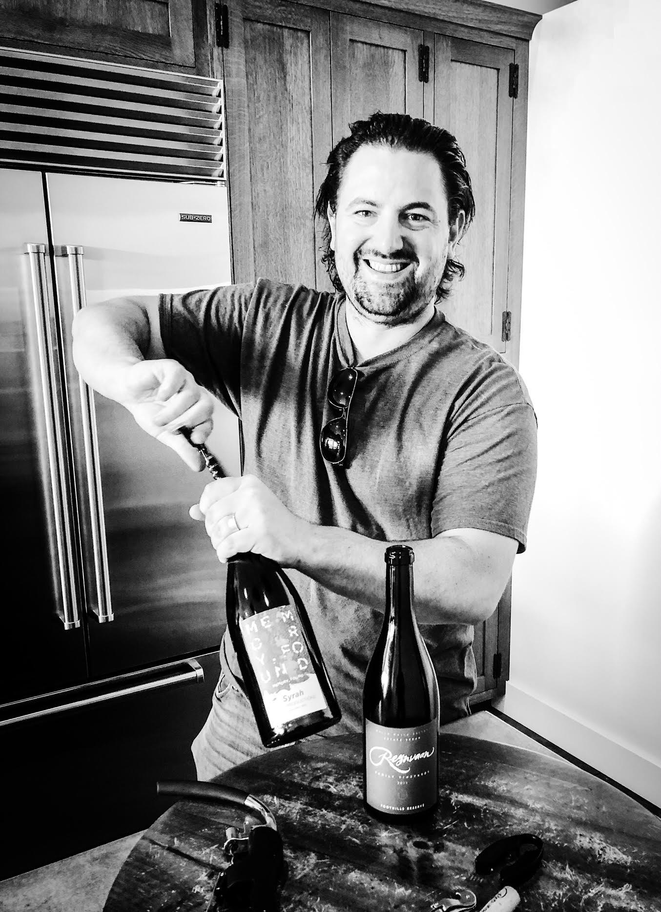 Great photo here of Matt Reynvaan with his wines.