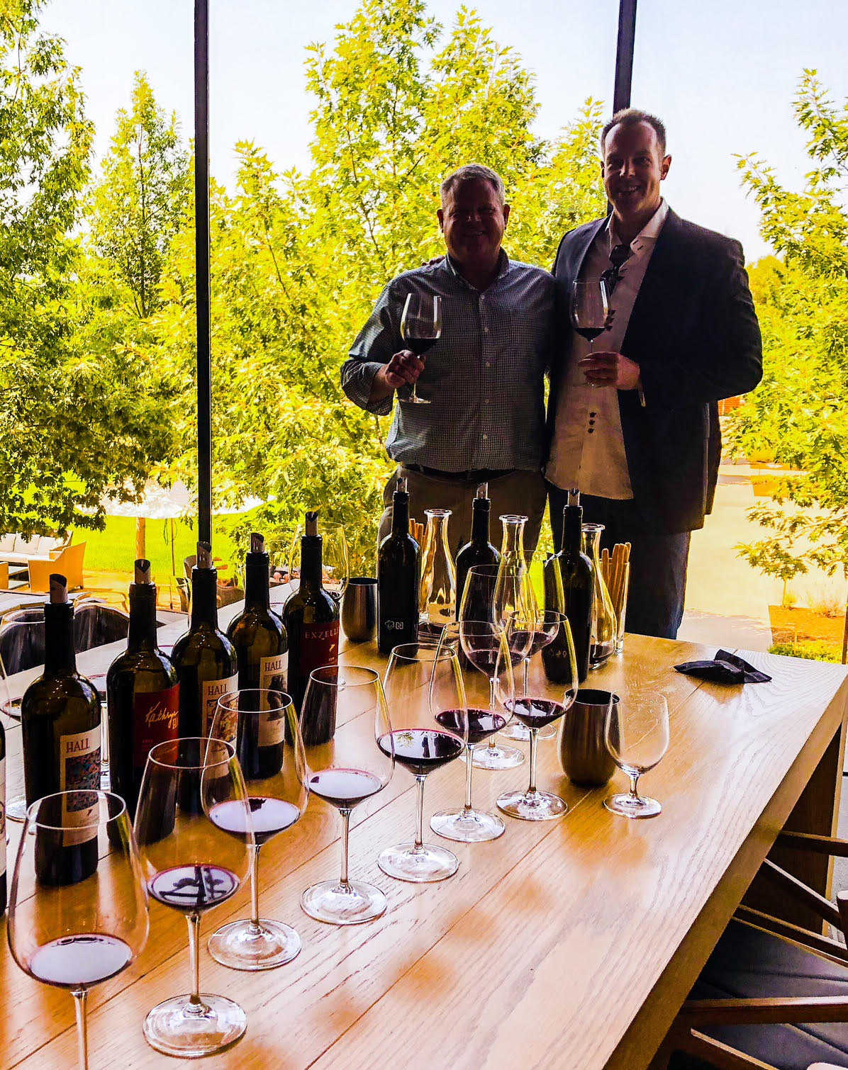It was a fabulous day checking out the gorgeous new lineup of HALL wines with HALL CEO and former HALL winemaker, Mike Reynolds.